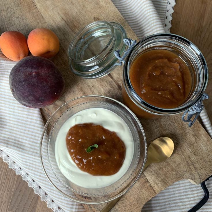 Peach Butter aus dem Slowcooker