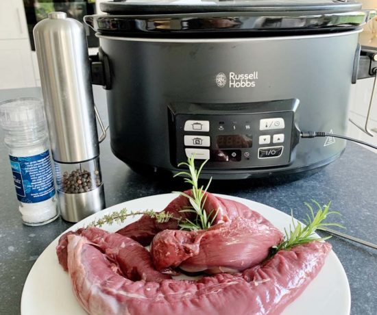 Hirschfilet im Russell Hobbs 3in1 Slowcooker