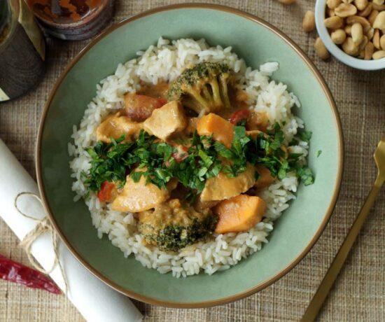 Gemüsecurry mit Huhn aus dem Slowcooker