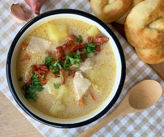 Slowcooker-Rezept für Bacon Chicken Chowder
