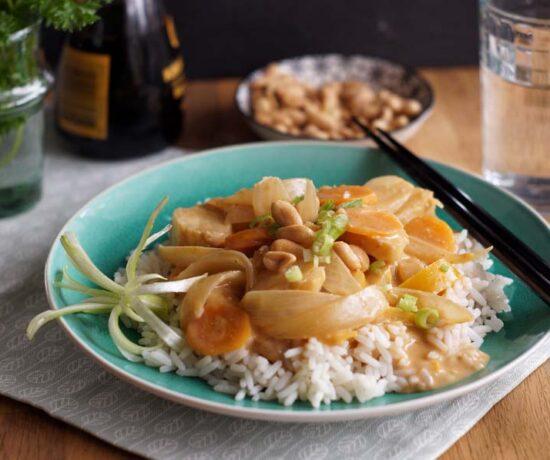 Rezept für Thai-Erdnusscurry aus dem Slowcooker
