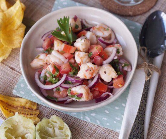 Rezept für Ceviche de camaron, Shrimp-Cocktail aus Ecuador