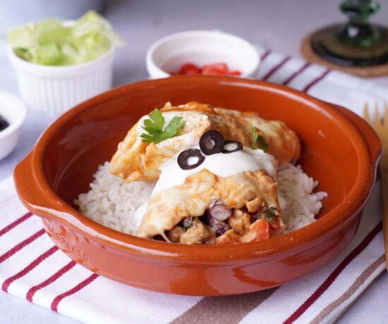 Rezept für Tortilla-Auflauf mit Hähnchen