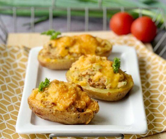 Backkartoffeln mit Tunfisch aus dem Slowcooker