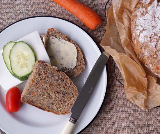 Rezept für einfaches Karottenbrot